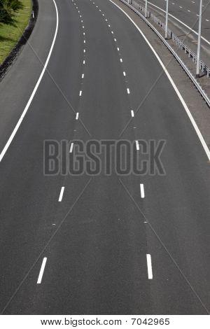 Empty Motorway Lanes