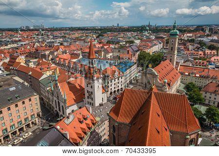 Birds Eye View of Munich Germany