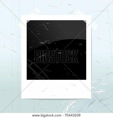 Empty Polaroid Photo Frame