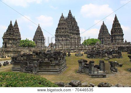 Side of Prambanan Temple