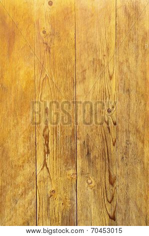 Lacquered Wooden Wall Closeup