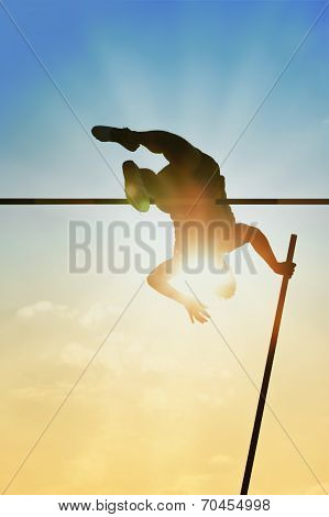 Pole Vault Back Light