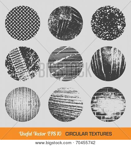 Set of vector vintage circular textures design