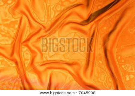 Texture Of Yellow Satin Silk
