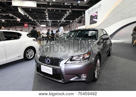 Bangkok - August 19: Lexus Gs300H Car On Display At Big Motor Sale On August, 2014 In Bangkok, Thail