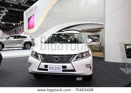 Bangkok - August 19: Lexus Rx270 Car On Display At Big Motor Sale On August, 2014 In Bangkok, Thaila