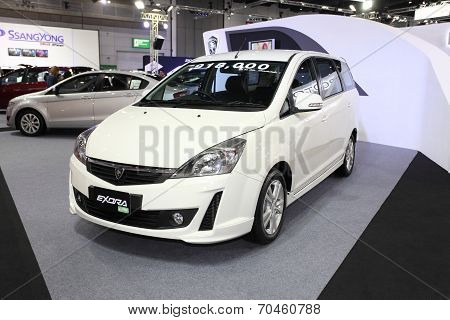 Bangkok - August 19: Proton Exora Lpg Car On Display At Big Motor Sale On August, 2014 In Bangkok, T
