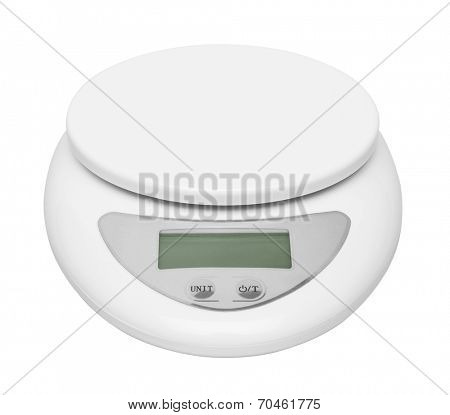 Electronic Scale isolated on white background