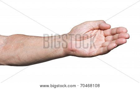 Worker Hand Pointing Direction - Hand Gesture