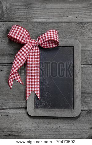 Old Slate - Empty Black Chalkboard For A Greeting Card Or A Wooden Board For Advertising