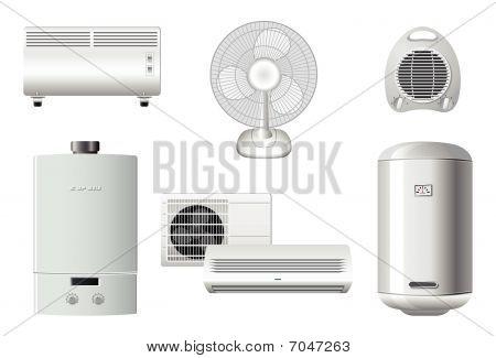 Постер, плакат: Бытовая техника Отопление и кондиционирование воздуха, холст на подрамнике