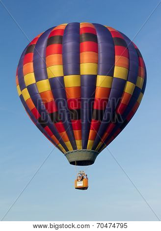 Metamora, Michigan - August 24 2013: Colorful Hot Air Balloons Launch At The Annual Metamora Country