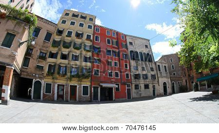 Jewish Ghetto In Venice In Italy