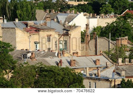 Roofs Of Odessa Old Town, Famous European City In Eastern Europe,ukraine, Unesco Heritage