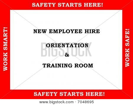 Employee Training Room Sign