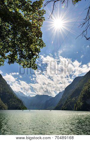 Sun Lake Koenigssee