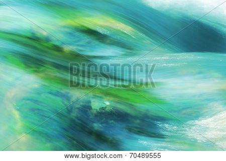 Turquoise Flowing Water