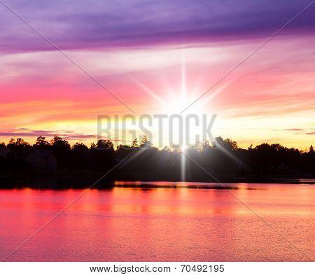 Burning Skies Sunset Paradise