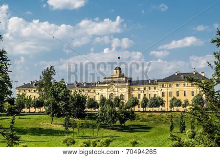Congres Palace-constantine Palace In Strelna On A Sunny Summer Day, St. Petersburg
