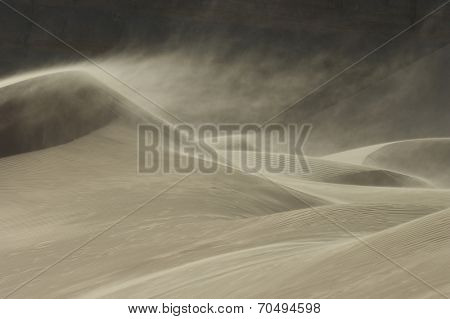 Sandstorm in Desert