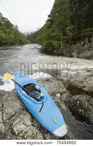 Kayak at Riverbank