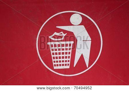 Symbol Of Waste Disposal.