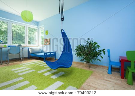 Child Room With Hanging Chair