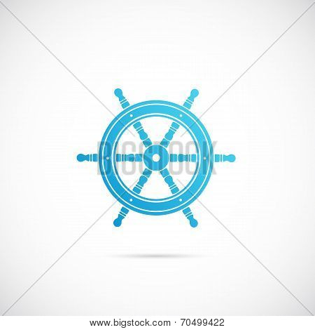 Steering Wheel Symbol Icon or Label