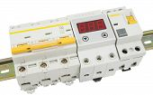 picture of breaker  - Automatic circuit breaker isolated on a white background - JPG