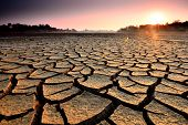 pic of rough-water  - dry cracks in the land - JPG