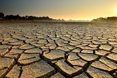 picture of water shortage  - dry cracks in the land - JPG