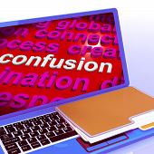 image of confuse  - Confusion Word Cloud Laptop Meaning Confusing Confused Dilemma - JPG