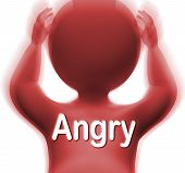 stock photo of outrageous  - Angry Man Meaning Mad Outraged Or Furious - JPG