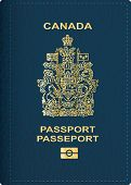 stock photo of passport cover  - vector Canadian passport cover - JPG