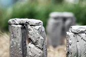 stock photo of stonehenge  - Mini stonehenge in my back yard - JPG