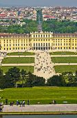 image of schoenbrunn  - Cityscape telephoto view of Vienna from Gloriette at Schoenbrunn palace - JPG