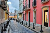 stock photo of san juan puerto rico  - Street in old San Juan - JPG