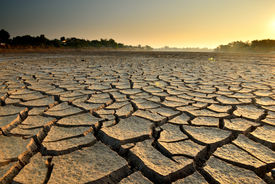 image of water shortage  - dry cracks in the land - JPG