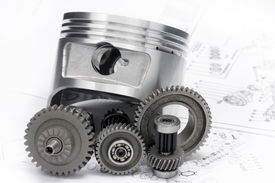 pic of mechanical engineer  - The reducer key the piston head and other details lie on the drawing - JPG