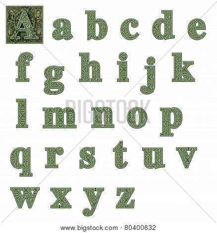 Money Alphabet Lowercase