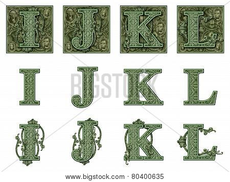Money Alphabet I To L