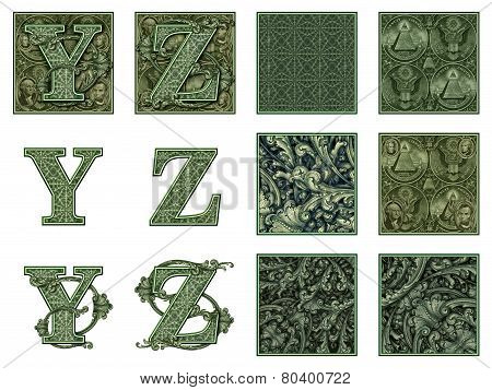Money Alphabet Y To Z