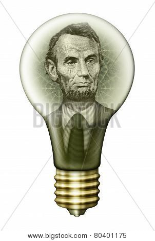 Abraham Lincoln Money Bulb