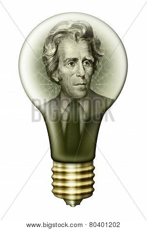Andrew Jackson Money Bulb