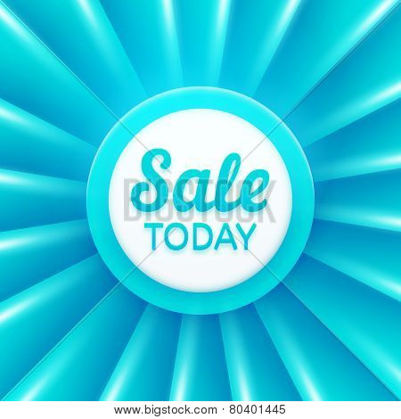 Sale today design template. Vector banner