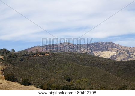 Wide Angle View Top Of Mount Diablo California