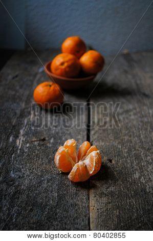 Ripe Tangerine Fruits