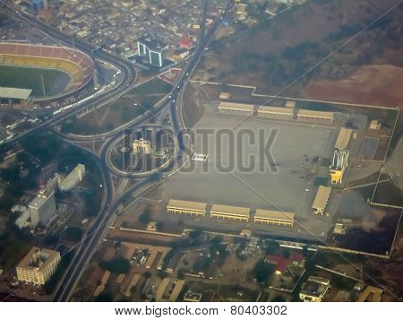 Aerial View Of Independence Square - Accra, Ghana