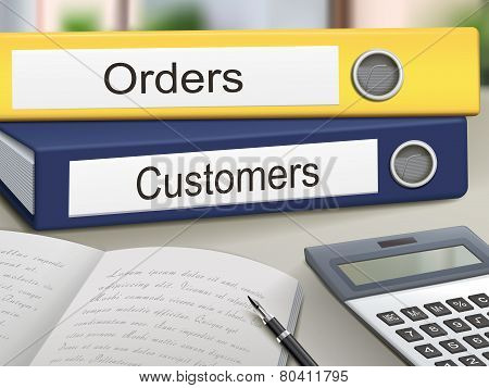Orders And Customers Binders