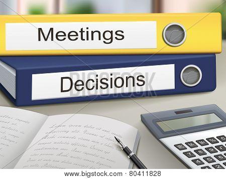 Meetings And Decisions Binders